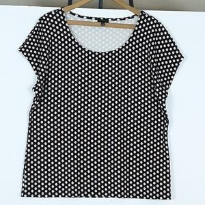 Talbots Scoop Neck Print Career Tank or Shell